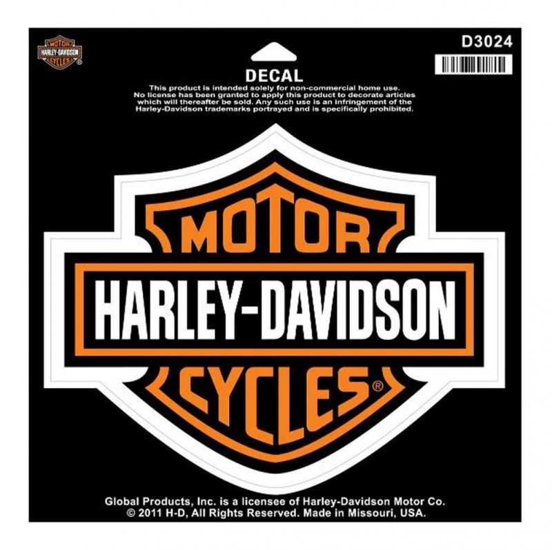 Harley-Davidson Bar & Shield orange Aufkleber groß