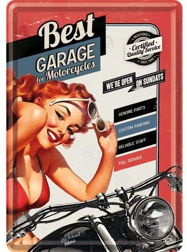 Best Garage Best Garage Red Blechpostkarte